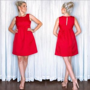 Red Fit Flair Sundress by Max and Cleo
